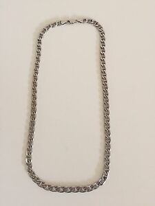 "Men's 22"" sterling silver chain"