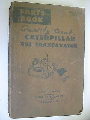 1971 Caterpillar 955 Traxcavator Parts Book Manual