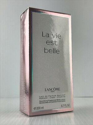 LANCOME LA VIE EST BELLE WOMEN BODY LOTION 6.7 OZ / 200 ML SEALED IN BOX