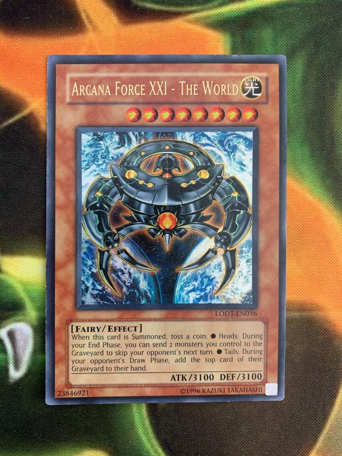 Yugioh Arcana Force XXI - The World LODT-EN016 Ultra Rare VLP  - $10.95