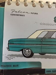 1963 Ford Dealer Manual for Colours and Fabrics