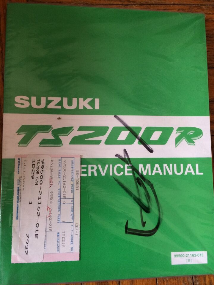 suzuki ts200r manual