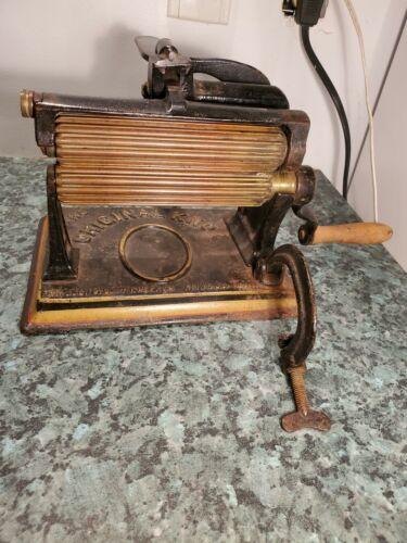 Vintage The Original Knox Cast Iron Crimper Fluting Machine Philadelphia PA*W016