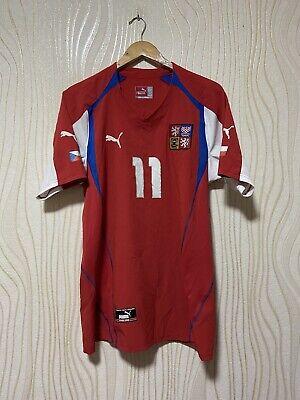 CZECH REPUBLIC 2004 2005 HOME FOOTBALL SHIRT SOCCER JERSEY PUMA sz L MEN NEDVED image