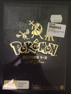 BRAND NEW - Pokemon Movies 1-3 Gold Edition DVD