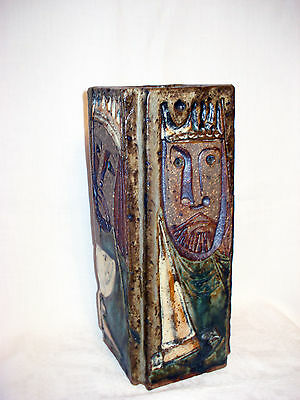 "Künstler Keramik Vase , signiert : ""Cuika 82 """