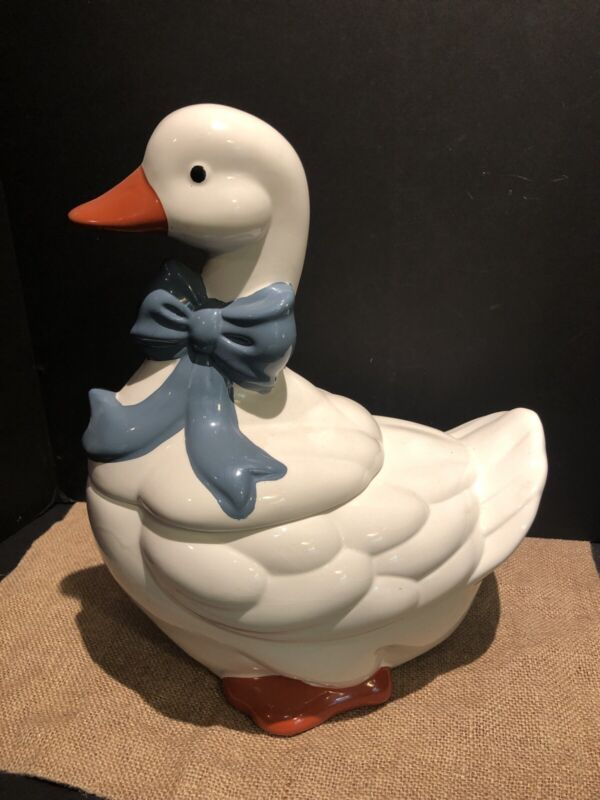 Vintage Ceramic Duck Cookie Jar