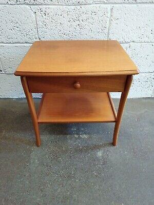 Vintage Teak Side Table with Drawer ~VGC