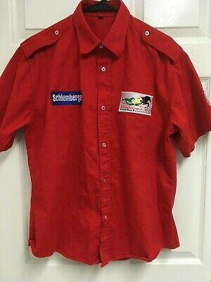 SCHLUMBERGER InterChange 2012 Horse Race United Arab Emirates Men Red Shirt L  image