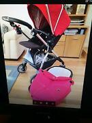 Red Silvercross pram and bassinet Keilor Downs Brimbank Area Preview