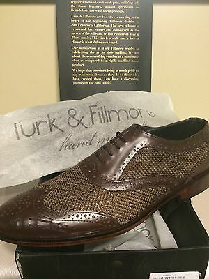 TURK AND FILLMORE SHOES - HAND MADE SHOES - LONDON   SIZE 40 / US 9.5 NEW