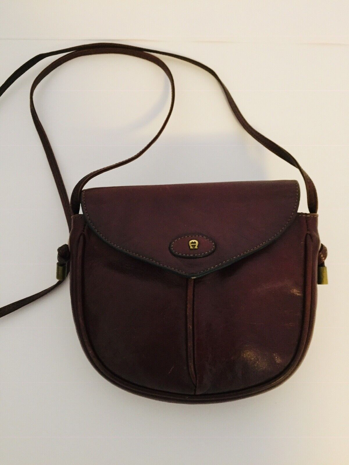 Aigner Handtasche Vintage klein Rotbraun