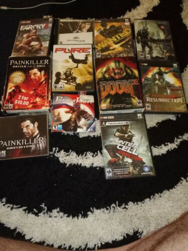 Computer Games - Lot of PC Computer 11 Games Bulk Video Game