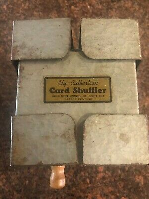 Vintage Ely Culbertson Metal Card Shuffler Wallin Foster Associates