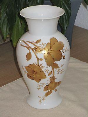 """AK Kaiser """"Clarissa"""" Porzellan-Vase Gold-Dekor ca.23 cm hoch West Germany (69)"""