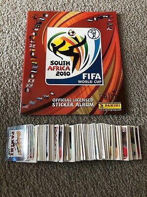 2010 Panini World Cup Soccer Empty Album Plus Complete Sticker Set Combo Lot