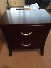 Wooden bedside table chocolate brown Waverley Eastern Suburbs Preview