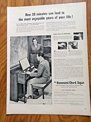 1953 Hammond Chord Organ Ad How 30 Minutes can Lead to enjoyable Years of Life