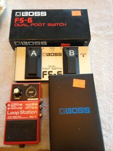 Boss loop station RC-1 and Boss FS-6 dual foot switch