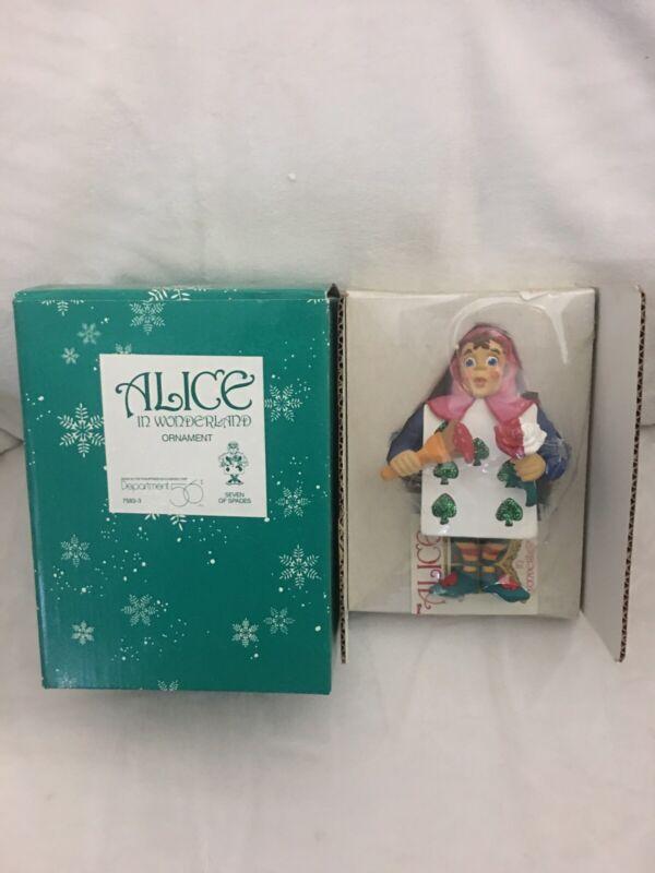 Dept  56 Seven OF SPADES CARD Alice In Wonderland ORNAMENT