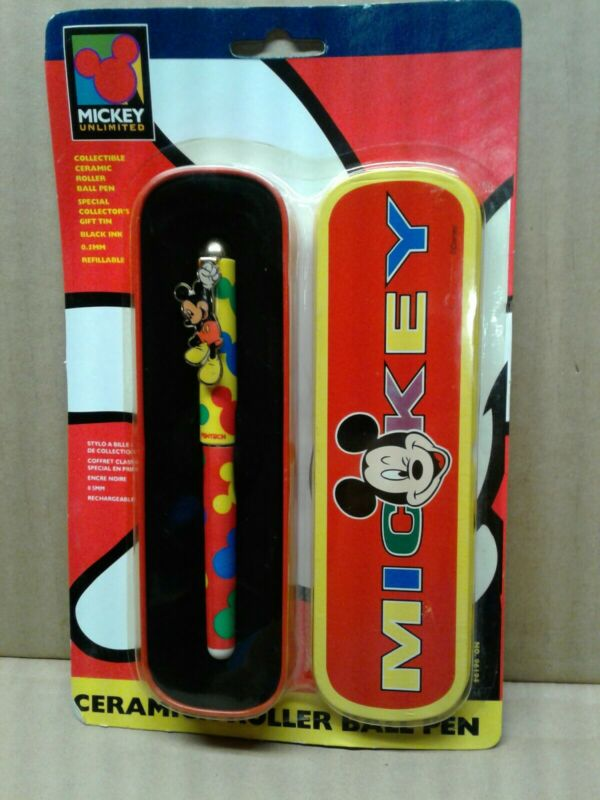 1995 Pentech Mickey Mouse Pen With Tin SEALED