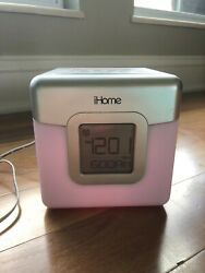 iHome iP18W LED Color-Changing iPod/iPhone Dual Alarm Clock Speaker System Dock
