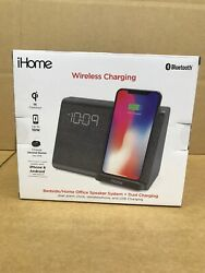 iHome iBTW39 Bluetooth Dual Alarm Clock Wireless Charging Speakerphone