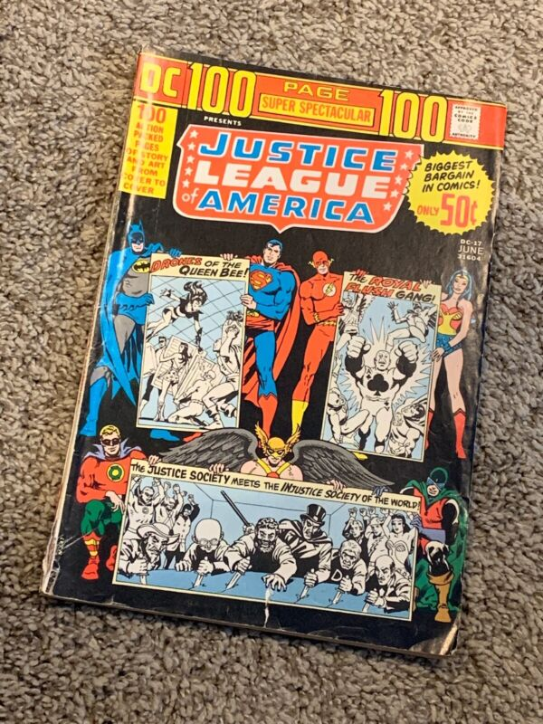 JUSTICE LEAGUE OF AMERICA BRONZE AGE LOT OF 6 (1971) #