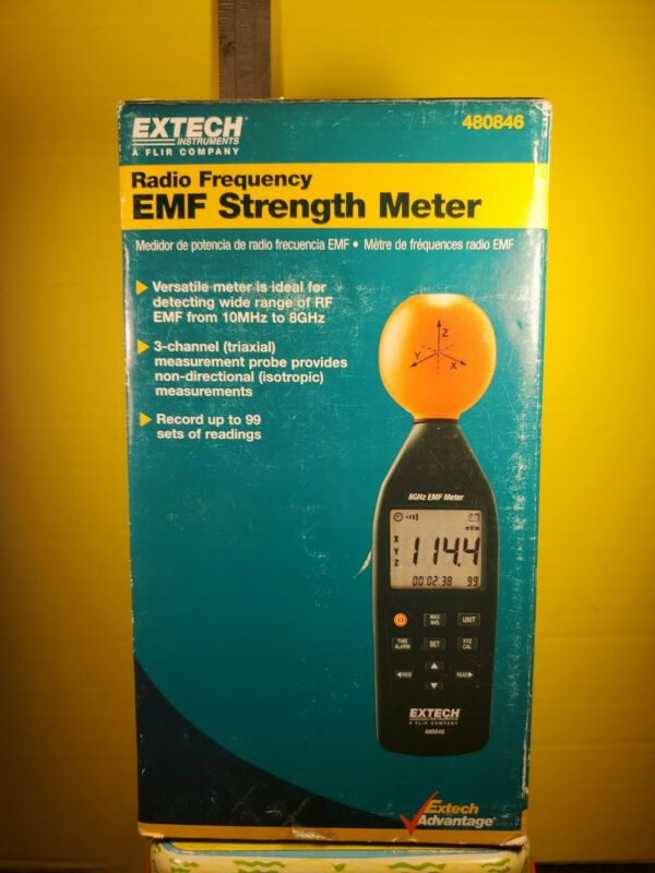 EXTECH Instruments Radio Frequency EMF Strength Meter 480846 NEW Opened Box