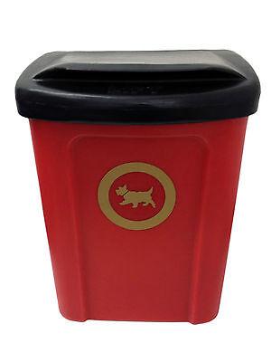 Plastic 30Litre Dog Waste Poo Bin c/w internal liner Cesear 30 in RED, occasion d'occasion  Expédié en Belgium