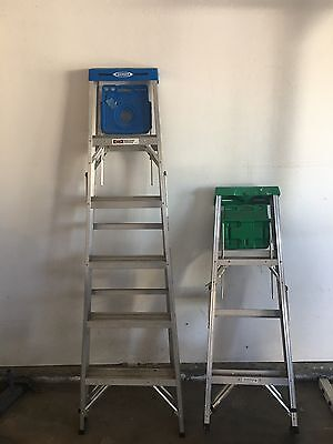 Two Aluminum Wener Ladders 6 Foot And 4 Foot For Sale