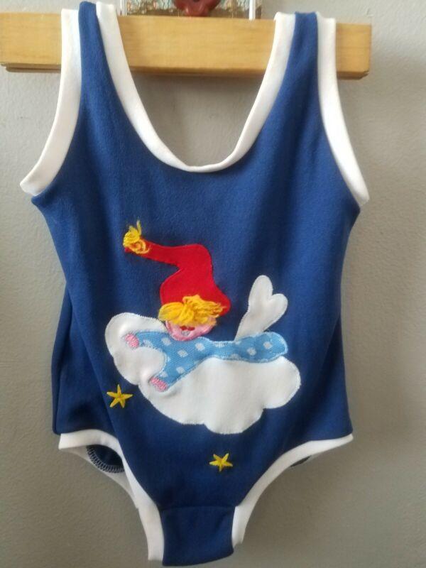 Vintage Toddler Girls sz 3 Little Funky Knits Swim Bathing Suit  Rare!