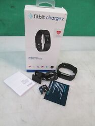 Fitbit Charge 2 Black Large Fitness watch Activity Tracker NEW OPEN BOX