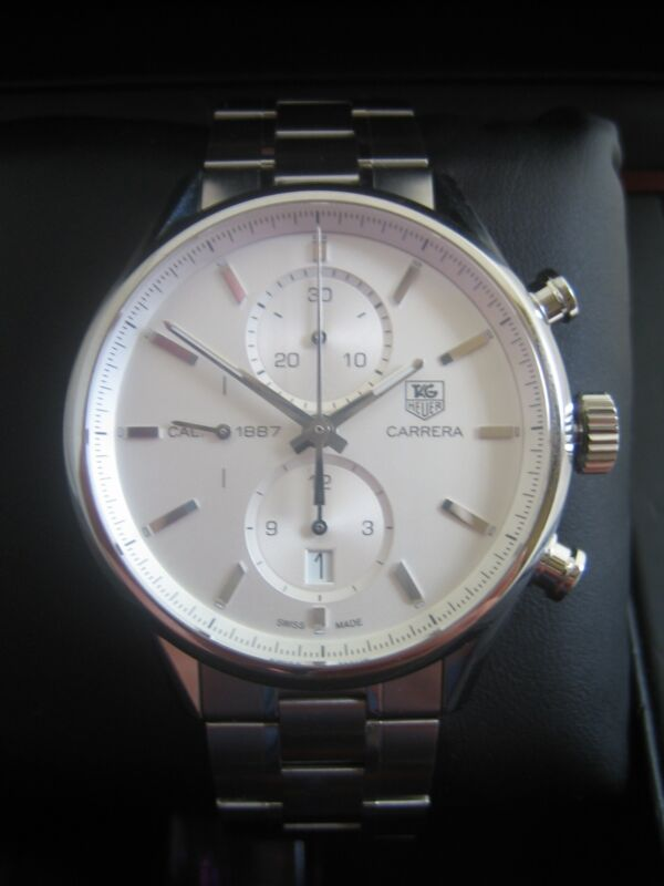 Tag Heuer Carrera Calibre 1887 Watch Car2111.ba0720 Automatic Chronograph Bnib