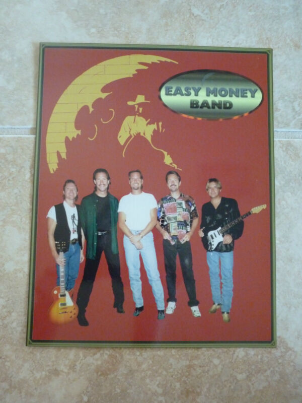 Easy Money Band 8x10 Photo Country Music Fan Club Picture Page
