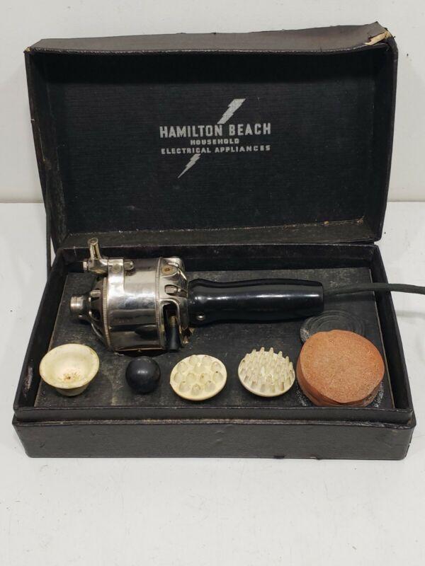 Quack Medicine Vintage Massager Vibrator Hamilton Beach Type F 1900s SET