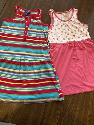 Lot of 2 cute girls pink and blue summer dresses - Gymboree/Chaps- Size 5T/5