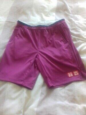 Uniqlo Roger Federer Tennis Shorts Incredibly Rare Size Medium
