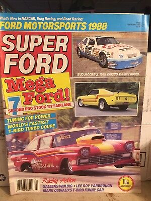SUPER FORD 1988 FEB - BOSS 9 ID, KILLER T-T'BIRD, PROBE TEST, SALEEN-SEBRING