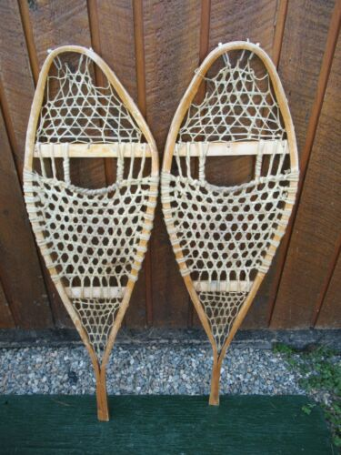 """INTERESTING OLD SNOWSHOES 43"""" Long x 13"""" GREAT DECORATION"""