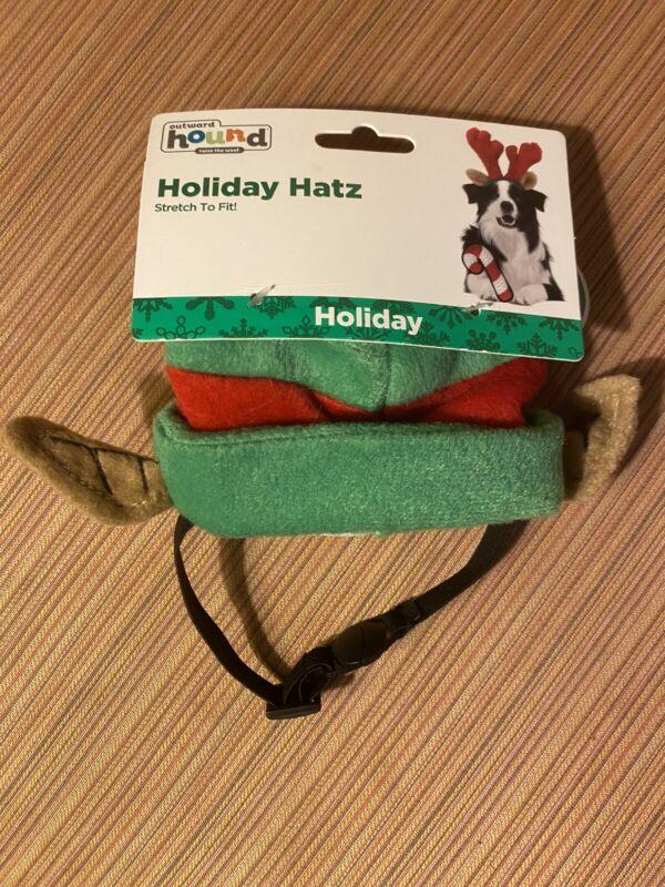 Dog Elf Holiday Hatz—SMALL—Stretch To Fit—Outward Hound Brand—Christmas