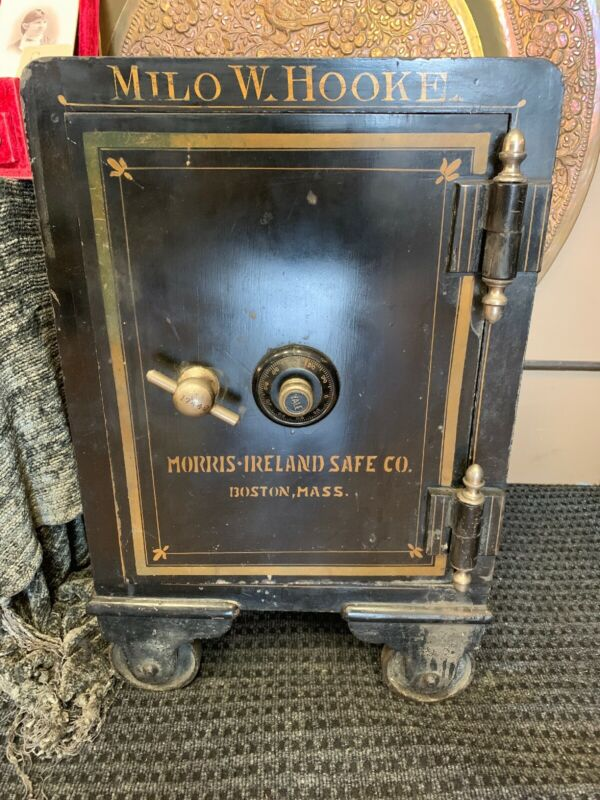 Morris-ireland safe co Boston mass.Vintage 1870's-1900 Combination Lock Safe