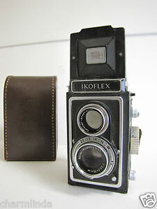 1950s-Zeiss-Ikon-Ikoflex-Ia-TLR-Twin-Lens-Vintage-Camera-Case-Manual-Book