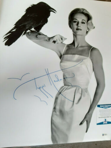 The Birds Tippi Hedren  autographed 16x20  photo LARGE Sig  Beckett  Certified