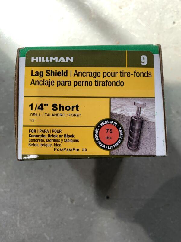 "Hillman 1/4"" Short Lag Shield Qty 50"