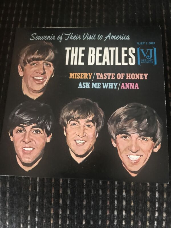 THE BEATLES USA 1964 E P SOUVENIR OF THEIR VIST TO AMERICA VEE JAY VJEP 1-903