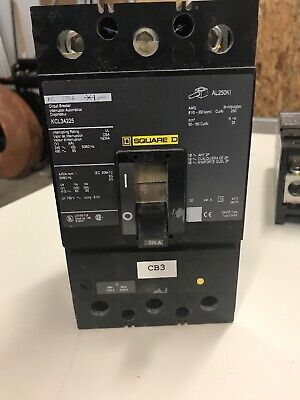 Square D Kcl34225 Breaker 225 Amp 3 Pole Tested