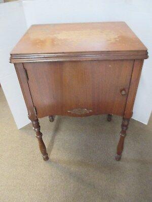 "Vintage 1930s Sewing Machine Cabinet Table Mahogany Veneer 31""T x 17"" X 22"" VSL2"