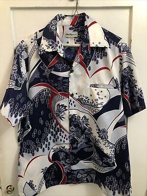 1970s Mens Shirt Styles – Vintage 70s Shirts for Guys Vintage Medium Tori Richard 1970's Hawaiian Blue Floral Point Collar Shirt $29.99 AT vintagedancer.com