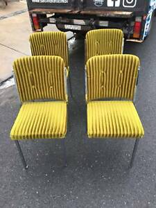 Dining chairs, midcentury, velvet/chrome,vintage WE CAN DELIVER Brunswick Moreland Area Preview